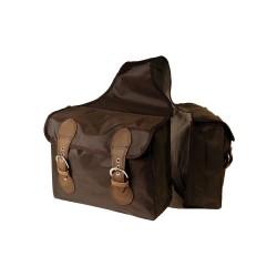 Bisaccia posteriore in nylon a 2 tasche