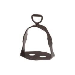 Staffe spagnole in ferro nero con attacco snodato Lopez
