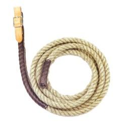 Redine singola in corda con rivestimento in pelle. Chiusura con fibbia