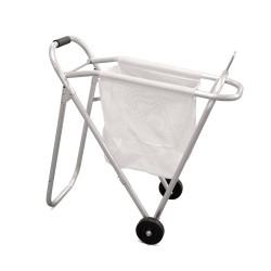 Poggiasella pieghevole in alluminio con ruote e sacca in nylon