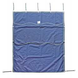 Tenda da box Lami-Cell con riquadro removibile e ricamabile