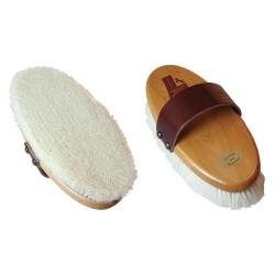 Spazzola Leistner con dorso in legno