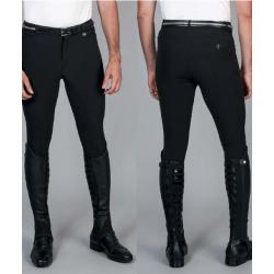 Pantaloni da uomo 4 stagioni ZEFIRO aderenti anatomici inserti in lycra sulle caviglie