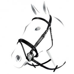 Briglia inglese Equestro in cuoio italiano