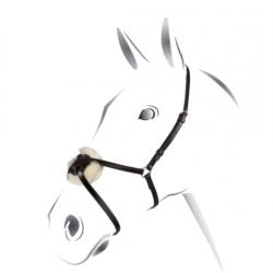 Cavezzina chiudibocca messicana in cuoio italiano regolabile Equestro