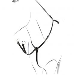 Martingala da caccia Equestro regolabile in cuoio italiano